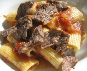 Braised Short Ribs with Rigatoni