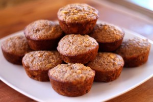 Apple Banana Oat Muffins