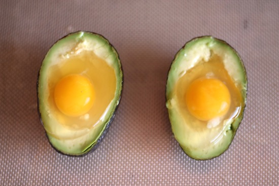 Baked Eggs in Avocado