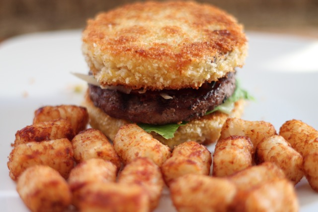 Truffle Mac and Cheese Bun Burger