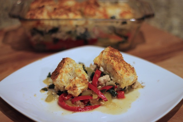 Blue Apron: Cheddar Biscuit-Topped Chicken Casserole