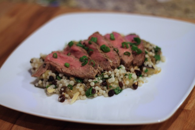 Blue Apron Steak and Couscous