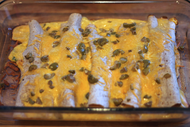 Cheesy Chicken Enchiladas15