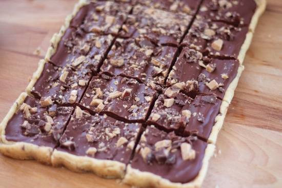 Chocolate Mascarpone Toffee Bars