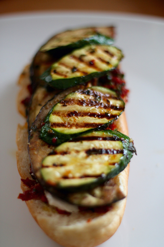 Grilled Vegetable and Goat Cheese Sandwiches - 17