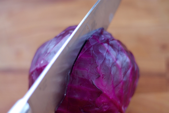 Cabbage is amazingly versatile & good all year round. It's slightly sweet and extremely adaptable. Here's a step-by-step tutorial on how to shred cabbage! | sarahnspice.com