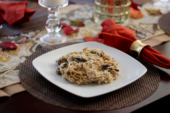 Lightened Up Chicken Tetrazzini