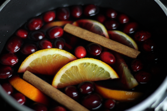 Hot Spiced Cranberry Sangria