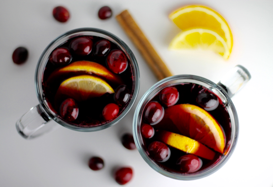 Hot Spiced Cranberry Sangria - Sarah 'n Spice