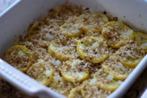 Baked Summer Squash is simple, delicious and economical. The perfect side dish for summer. You'll be surprised how quickly it disappears. | sarahnspice.com