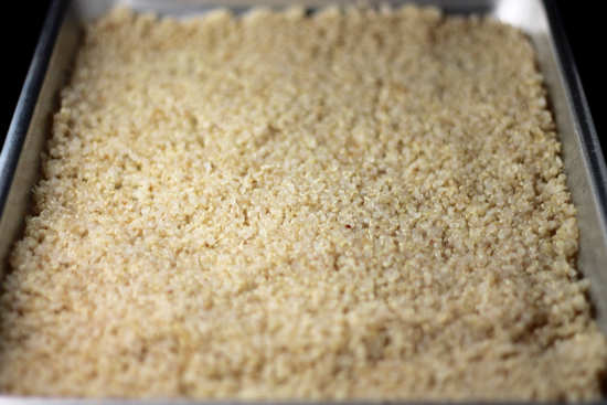 Quinoa Crisps are a super healthy crunchy treat you can sprinkle on yogurt, salads or smoothies. All you need is 2 ingredients and 30 minutes!   sarahnspice.com