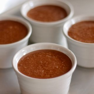 Homemade Chocolate pudding tastes so much better than the store-bought variety. This recipe is silky, smooth with a decadently rich chocolate flavor!   sarahnspice.com