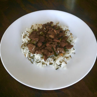 Mongolian Beef has crispy tender beef slices covered in a sweet & salty concoction. It's a decadent & delicious recipe you can make it right at home!   sarahnspice.com