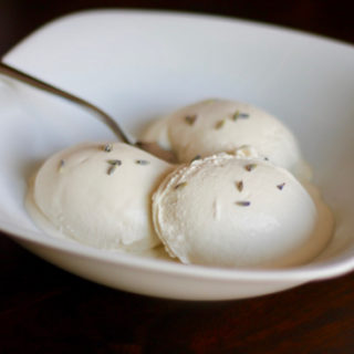 Honey Lavender Ice Cream is a rich and decadent dessert. It has a unique taste and is sweetened only with honey. This is a very special treat you must try! | sarahnspice.com